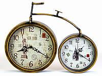 Часы каминные двойные Велосипед