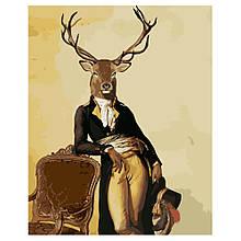 Картина по Номерам Олень-аристократ 40х50см Strateg