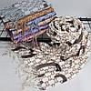 """Кашемировый двусторонний шарф палантин """"Гульнара"""" молочный Cashmere 122004, фото 2"""