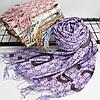 """Кашемировый двусторонний шарф палантин """"Гульнара"""" фиолетовый Cashmere 122006, фото 2"""