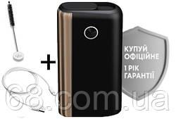1 РІК ГАРАНТІЇ + Подарунок до glo hyper plus + чорно-золотий (Гло хайпер плюс + Black-gold) Прилад для нагрівання