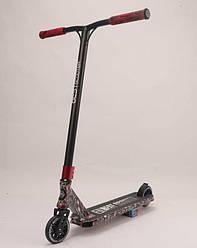 Самокат трюковый Best Scooter BS-77488 (4) HIC-система, ПЕГИ, алюминиевый диск и дека с ПРИНТОМ, колёса PU,