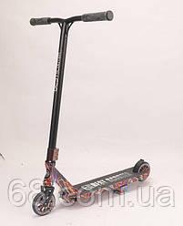 Самокат трюковый Best Scooter BS-77350 (4) HIC-система, ПЕГИ, алюминиевый диск и дека с ПРИНТОМ, колёса PU,