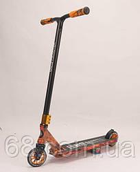 Самокат трюковый Best Scooter BS-77225 (4) HIC-система, ПЕГИ, алюминиевый диск и дека с ПРИНТОМ, колёса PU,