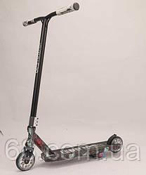 Самокат трюковый Best Scooter BS-77101 (4) HIC-система, ПЕГИ, алюминиевый диск и дека с ПРИНТОМ, колёса PU,
