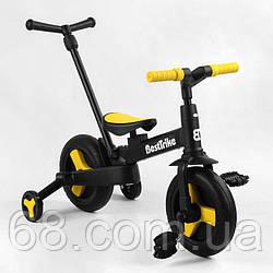 """Велосипед-трансформер Best Trike 58195 (1) колеса PU 10"""", батьківська ручка, знімні педалі"""