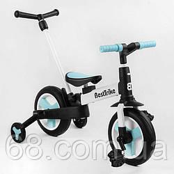 """Велосипед-трансформер Best Trike 56659 (1) колеса PU 10"""", батьківська ручка, знімні педалі"""