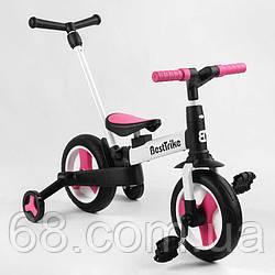 """Велосипед-трансформер Best Trike 55475 (1) колеса PU 10"""", батьківська ручка, знімні педалі"""