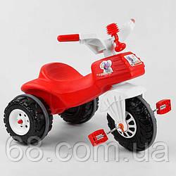 Велосипед триколісний 07-119 Pilsan (1) ЧЕРВОНИЙ З БІЛИМ, клаксон, в кульку