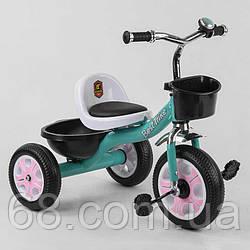 Велосипед 3-х колісний LM-7309 Best Trike (1) БІРЮЗОВИЙ, піно колесо, метал. рама, дзвіночок, 2 корзини,
