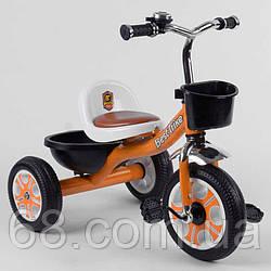 Велосипед 3-х колісний LM-5207 Best Trike (1) ПОМАРАНЧЕВИЙ, піно колесо, метал. рама, дзвіночок, 2 корзини,