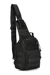 Тактичний військовий рюкзак U. S. ARMY Oxford 600D 6 літр через плече Black