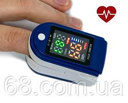 Портативный пульсометр оксиметр на палец Pulse Oximeter LK87 пульсоксиметр для измерение сатурации