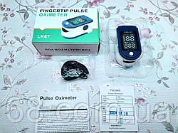 Портативный пульсометр оксиметр на палец Pulse Oximeter LK87 tgb пульсоксиметр для измерения кислорода в крови
