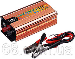 Перетворювач напруги(інвертор) UKC 12-220V 1000W Gold (1973)