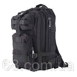 Тактичний штурмової військовий рюкзак 45л портфель чорний