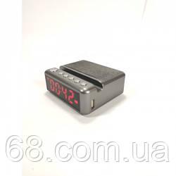 Колонка з годинником, будильником і підставкою для телефону HDY-G24