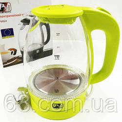 Электрический чайник стеклянный PROMOTEC PM-824 2250W Green p