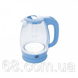 Электрический чайник стеклянный PROMOTEC PM-824 2250W  Blue p