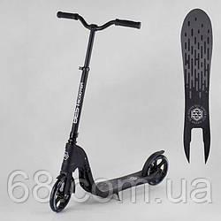 Самокат двухколесный 72378  Best Scooter  (2) цвет ЧЕРНЫЙ, колеса PU - 20 см, широкий велосипедный руль, новый