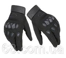 Тактичні рукавички полнопалые Oakley чорний (0010) XL