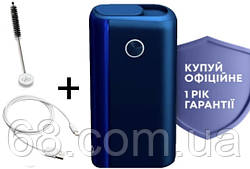 1 ГОД ГАРАНТИИ + Подарок к glo hyper plus + синий (Гло хайпер плюс + Blue) Прибор для нагрева табака p
