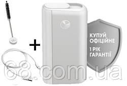 1 РІК ГАРАНТІЇ + Подарунок до glo hyper plus + білий (Гло хайпер плюс + White) Прилад для нагрівання тютюну