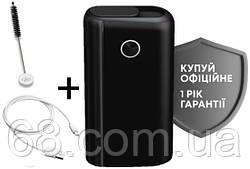 1 ГОД ГАРАНТИИ + Подарок к glo hyper plus + черный (Гло хайпер плюс + Black) Прибор для нагрева табака p