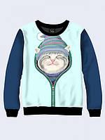 Cвитшот CAT IN ZIP; XXS, XS, S, M, L, XL, фото 1