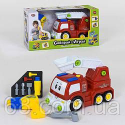 Пожарная машина-конструктор 1983 (12) Play Smart, ездит от блока питания, дрель на батарейках, в коробке