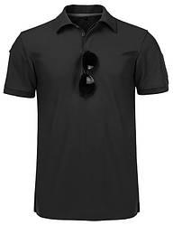 Тактична футболка поло Outsideca з коротким рукавом (Чорний) XXL