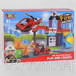 Конструктор JDLT 5419 (12/2) Пожежна служба , 50 деталей, в коробці