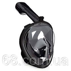 Дитяча повна маска для плавання FREE BREATH (XS) M2068G з кріпленням для камери Чорний 2