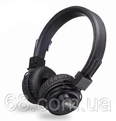 Беспроводные Bluetooth стерео наушники NIA X5SP с МР3, FM и колонкой Black (5053)