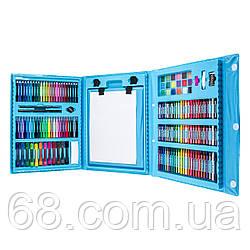 Набір для дитячої творчості у валізі з 208 предметів Blue (3712)