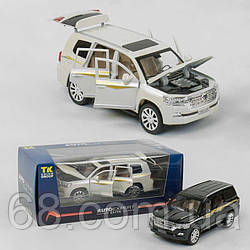 Джип металлопластиковый EL 6491 (36)  Auto Expert , 2 цвета, 1:24 масштаб, свет, звук, инерция, открываются