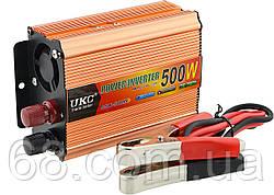 Перетворювач UKC авто інвертор 12В-220В 500W + USB Gold (5361)