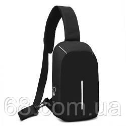 Рюкзак міський протикрадій Bobby Mini з захистом від кишенькових злодіїв і USB-портом для заряджання чорний