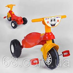 Дитячий велосипед Pilsan My Pet 07-132 (1) ЧЕРВОНО-ЖОВТИЙ, з клаксоном, в коробці