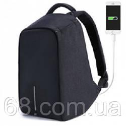 Рюкзак протикрадій з USB чорний