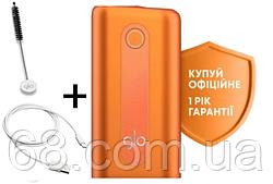 1 РІК ГАРАНТІЇ + Подарунок до glo hyper Помаранчевий (Гло хайпер Orange) Прилад для нагрівання тютюну