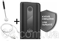 1 ГОД ГАРАНТИИ + Подарок к glo hyper Черный (Гло хайпер Black) Прибор для нагрева табака p