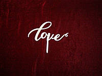 Топпер Love, верхушка на торт (20 х 10 см), декор