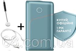 1 ГОД ГАРАНТИИ + Подарок к glo pro Аква (Гло Про Aqua) Прибор для нагрева табака Голубой p