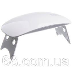 УФ лампа для гель-лаку UV LED SUN mini білий (4441)