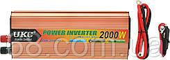 Преобразователь напряжения(инвертор) UKC 12-220V 2000W + USB Gold (0791)