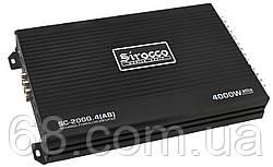 Автомобильный 4-канальный усилитель звука Sirocco SC-2000.4 (AB) 4000W Black (7580)