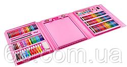 Набір для дитячої творчості у валізі з 208 предметів Pink (3667)
