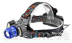 Налобний ліхтарик BL POLICE С862Т6 +2 COB, 1600 люмен, 2 зарядних пристрої 2x18650) (5193)