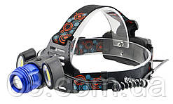 Налобный фонарик BL POLICE С862T6 +2 COB, 1600 люмен, 2 зарядных устройства 2x18650) (5193) p